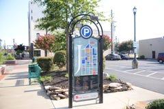 Guida del centro della città di Jonesboro Arkansas Immagini Stock Libere da Diritti