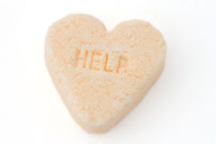 GUIDA del cuore della caramella Fotografie Stock Libere da Diritti