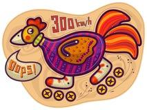 Guida del gallo sui rulli Immagine Stock Libera da Diritti