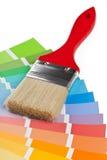 Guida del grafico a colori con la spazzola Immagine Stock