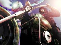 Guida del motociclista Fotografie Stock