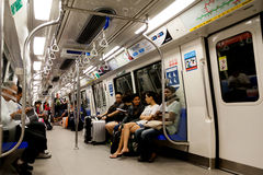 Guida del treno pendolare a Singapore Fotografia Stock Libera da Diritti