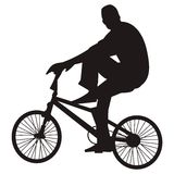 Guida della bicicletta Immagine Stock