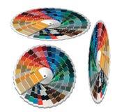 Guida della gamma di colori di colore per industria di stampa. Fotografie Stock Libere da Diritti