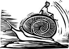 Guida della lumaca illustrazione vettoriale