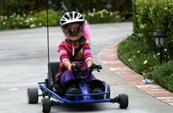 Guida della ragazza da go-kart Immagine Stock Libera da Diritti