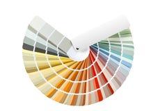 Guida della tavolozza di colore isolata su bianco Fotografia Stock Libera da Diritti