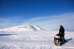 Guida di avventura di inverno Fotografia Stock