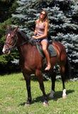 Guida di Horseback 1 fotografia stock