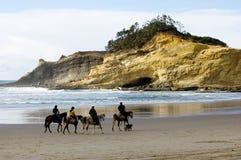 Guida di Horseback Immagini Stock
