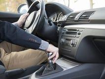 Guida di veicoli interna Fotografie Stock Libere da Diritti