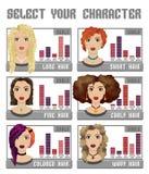 Guida divertente per i clienti dei cosmetici dei capelli Immagine Stock Libera da Diritti
