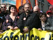 Guida francese Francois Chereque del sindacato del CFDT fotografia stock libera da diritti