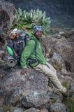 Guida tanzaniana della montagna, Kilimanjaro Fotografie Stock
