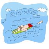 Guida Wave del surfista Immagine Stock Libera da Diritti