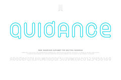 Guidance. Set of stylish alphabet letters and numbers  on white background. vector contemporary, contour font type. modern thin line character design. regular Stock Photo