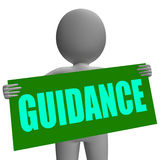 Guidance Sign Character Means Support And Stock Image
