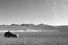 Guidando in Bolivia fotografia stock