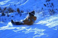 Guidando da una collina. Fotografie Stock