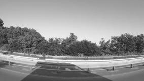 Guidando depressione la città suburbana stock footage