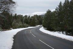 Guidando in inverno Immagine Stock