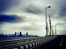 Guidando a Mumbai del sud Fotografia Stock Libera da Diritti