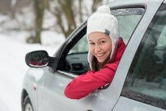 Guidando nell'inverno Fotografia Stock