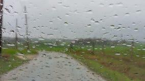 Guidando nella pioggia - movimento lento video d archivio