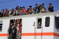 Guidando sul tetto del treno Fotografia Stock Libera da Diritti