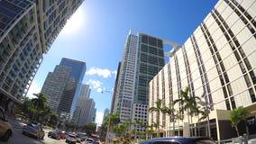 Guidando sul viale Miami 4k di Brickell video d archivio