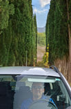 Guidando in Toscana Immagini Stock Libere da Diritti