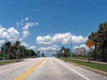 Guidando verso il ponte mobile Fotografia Stock Libera da Diritti