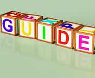 Guide Blocks Show Advice Assistance. Guide Blocks Showing Advice Assistance And Recommendations Royalty Free Stock Image