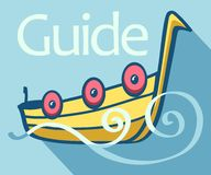 Guide boat Stock Photography