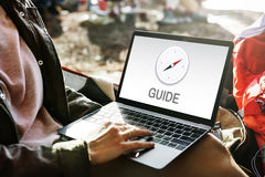 Guide Compass GPS Navigation Location Graphic Concept Royalty Free Stock Photos