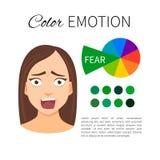 Guide d'émotion de couleur illustration de vecteur