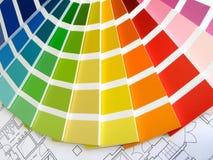 Guide de couleur Photos stock
