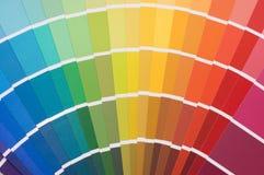 Guide de couleur pour la sélection photographie stock
