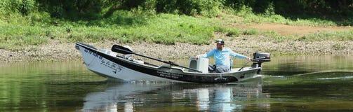 Guide de pêche de mouche Photo stock