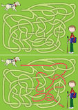Guide dog maze Stock Image