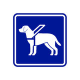 Guide dog sign Stock Photography
