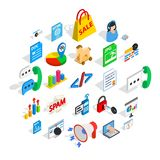 Guide icons set, isometric style. Guide icons set. Isometric set of 25 guide vector icons for web isolated on white background Stock Images