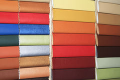 Guide of leather close up Stock Photos