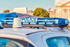 Guide optique français de voiture de police Photographie stock libre de droits