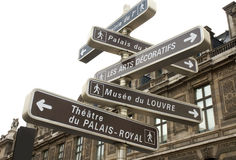 Guide post. Famous guide post in Paris royalty free stock photography