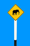 The Guide post of elephant Royalty Free Stock Photo