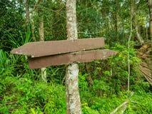 Guide Post in Khao Luang mountain in Ramkhamhaeng National Park royalty free stock image