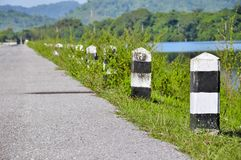The guide post roadside in Thailand Royalty Free Stock Photos