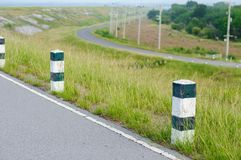 The guide post roadside in Thailand Royalty Free Stock Photography