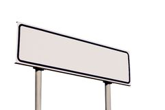 Guide Post White Directional Road Sign Isolated Royalty Free Stock Photo